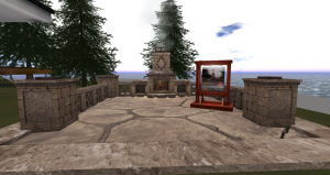Trompe Loeil - Dardon Stone Fireplace Patio Kit [mesh]