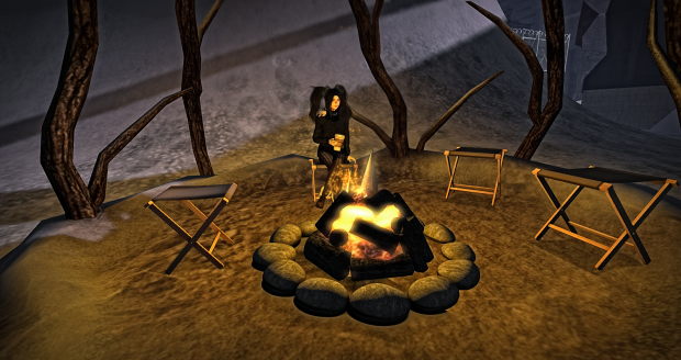 Cozy Campfire reflection